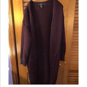 Long maroon sweater